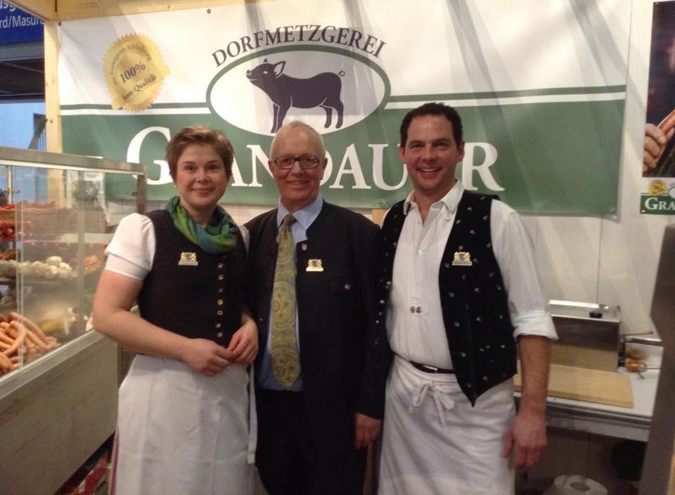 Sabine und Sebastian Grandauer auf der Grünen Woche 2014